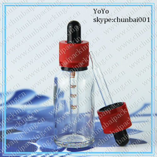 30ml clear e juice glass bottles with childproof eyedropper caps New Product