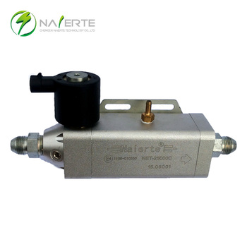 Natural gas pressure regulator/reducer for auto engine