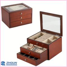 Custom Luxury Jewelry Rings Ornament Collection Storage Watch Box Of Wood