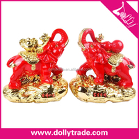 top design red resin desktop statues for sale pair elephants