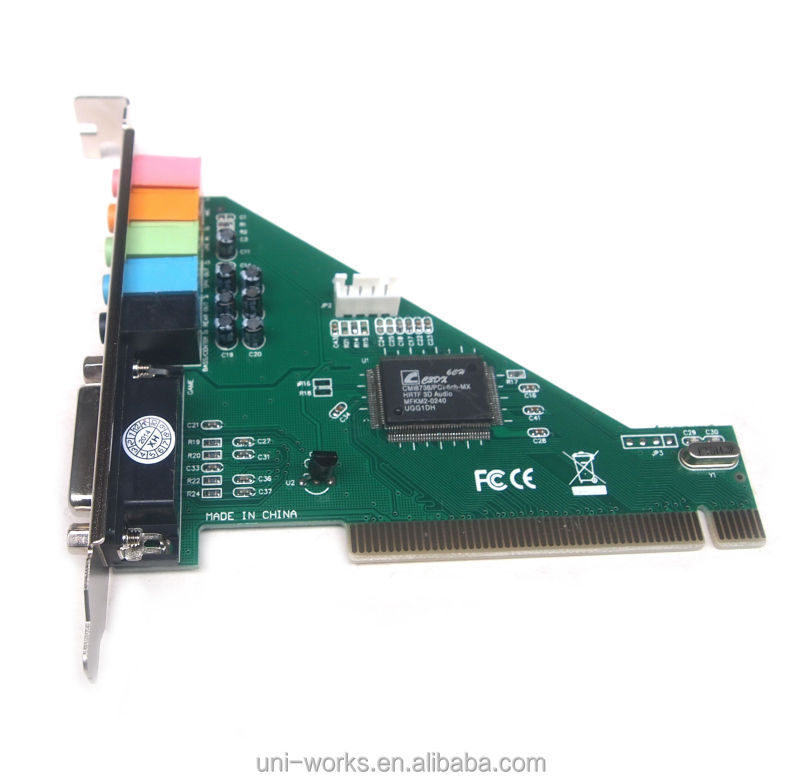 4 channel 5.1 PCI sound card