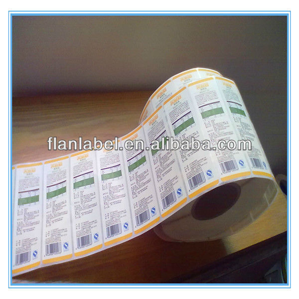 Roll White BOPP Labels