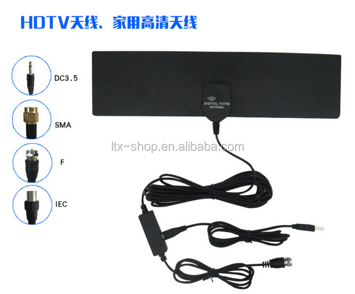 Digital Powerful Indoor TV Antenna Amplified 50Miles Range Indoor TV Antenna Useful In Rural Area HD1080P TV Antenna