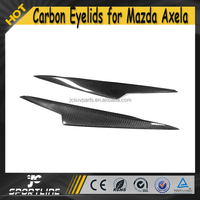 S Style Carbon Fiber Front Bumper Headlight Eyelid for Mazda 3 Axela 2013-2015