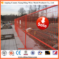 durable rust free and rust proof orange steel construction fences for industry