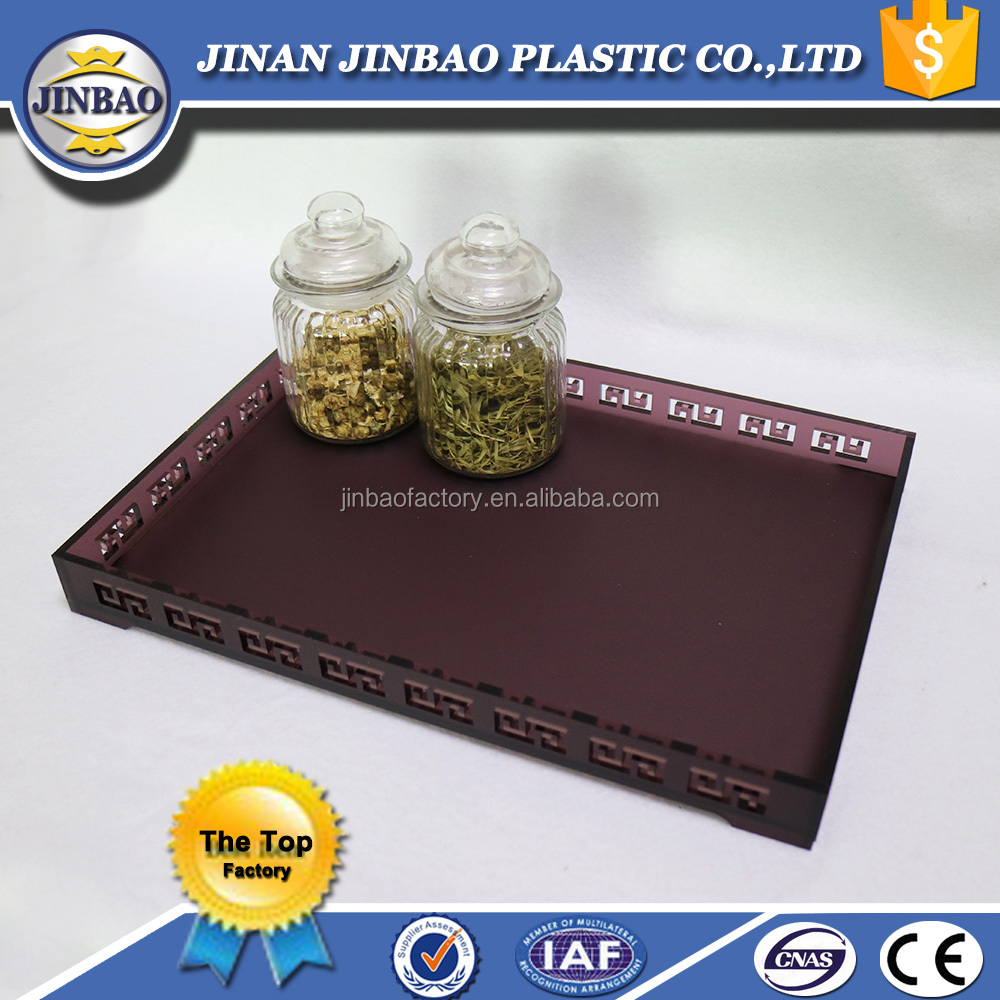 JINBAO high-end professional showing wholesale customiz clear acrylic serving trays display