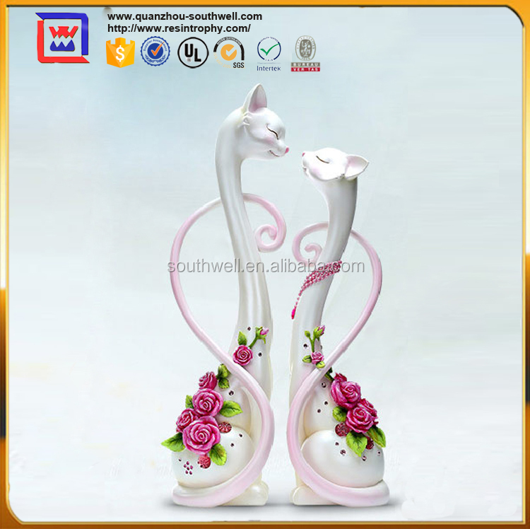 Home Decoration Wedding Cat Statue For Souvenirs