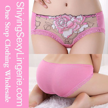 Pink Peony Embroidered Lace pretty women sexy underwear sexy girl underwear picture women sexy mature underwear