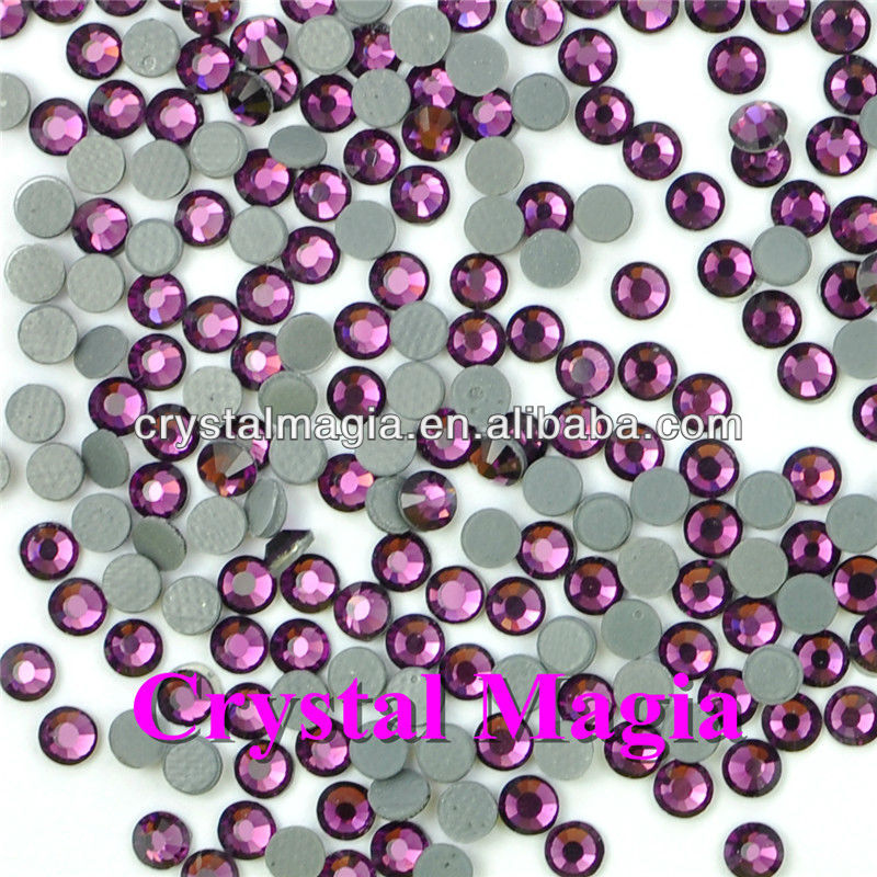 hot sell 12 facted flat back hot fix rhinestone crystal strass trimming wholesale