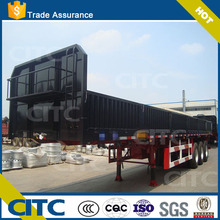 side wall semi trailer extachable fence type with full plate cover pickup station in front for sale