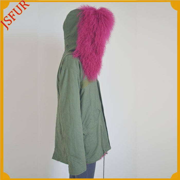 Jsfur Wholesale Overcoat From China With Real Sheep Fur