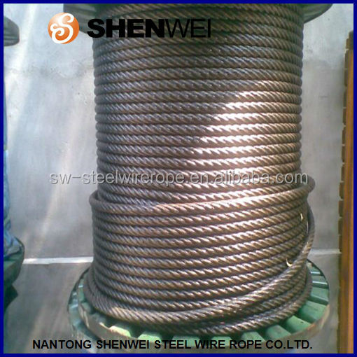 high tensile carbon steel galvanized wire rope 6X37