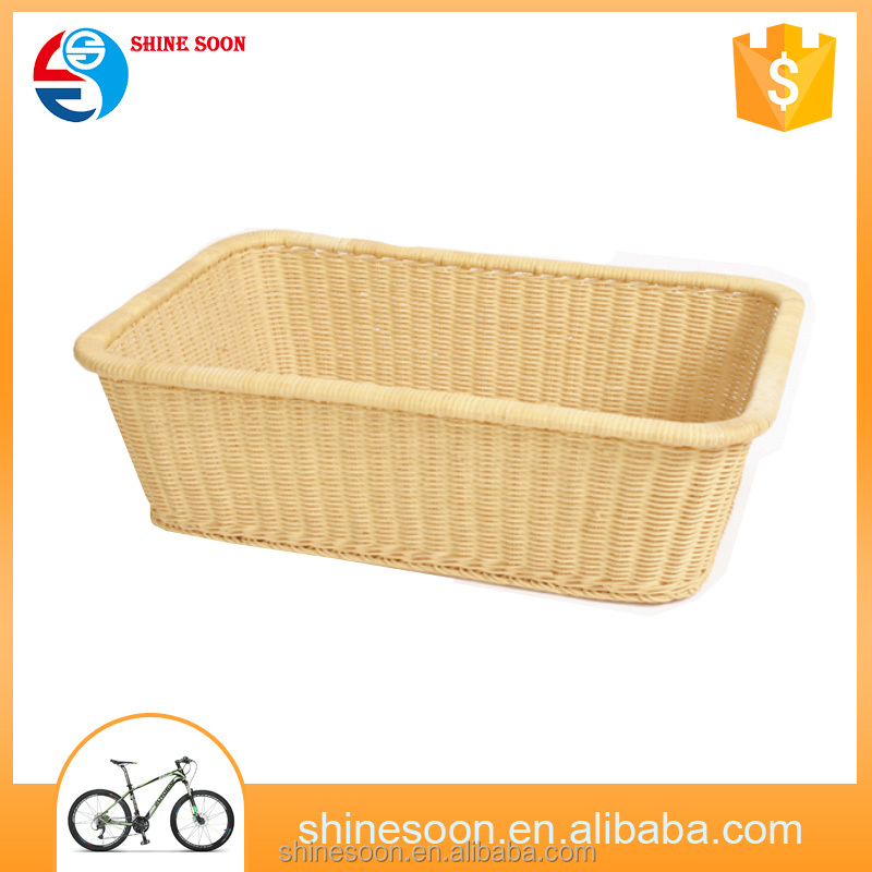 Large cane vegetable storage bicycle rear basket for tricycle
