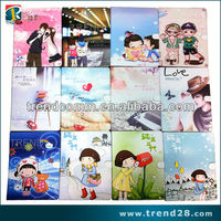 china promotion cute cartoon leather+TPU cover case for ipad 2
