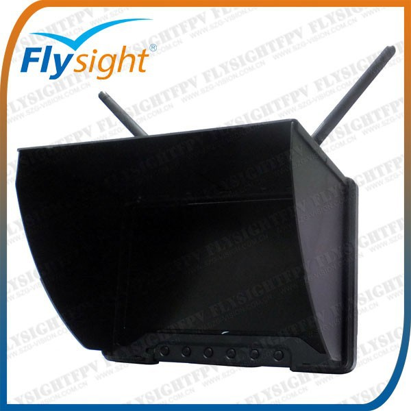 "E428 Flysight 5.8ghz 7"" HD 1024*600 monitor HDMI with integrated sun hood for cx20 auto-pathfinder fpv quadcopter"