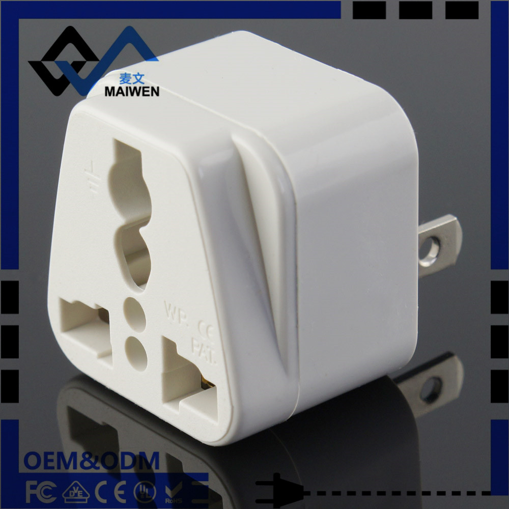 Universal EU AU US UK to USA Japan 2 pin plug adapter with CE Rosh