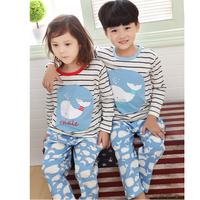 2016 Custom high quality children pajamas set kids cartoon characters sleeping wear