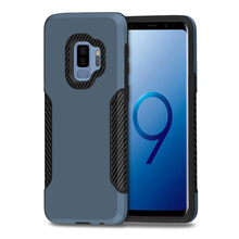 Carbon fiber armor pc tpu 2 in 1 phone case for samsung s9 case,for samsung galaxy s9+ phone case