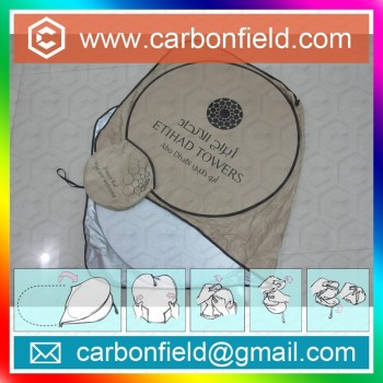 Customized logo printed sunshade screen for front window