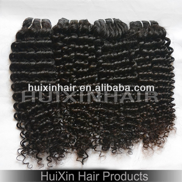 2014 6A Chinese virgin human hair weave 30 inches Kinky Curly