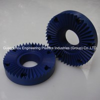 Professional manufacture blue PA/ nylon gear plastic worm gear