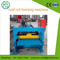 New color steel glalvanized trapezoidal metal roofing sheet tile making machine made in China