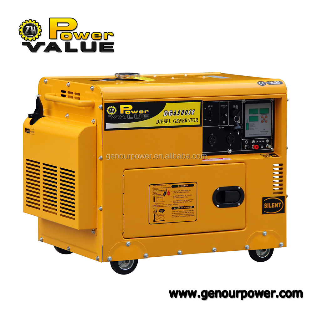 Power Value China Taizhou 5kva diesel silent generator price digital generator