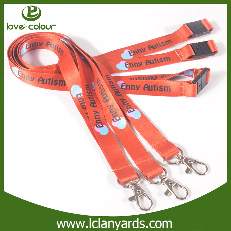 New design fashion red airplane safety buckle lanyard