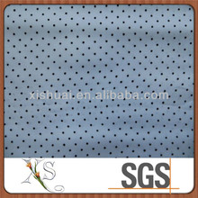 Eco-friendly White Taffeta With Black Small Dots Flocking Fabric