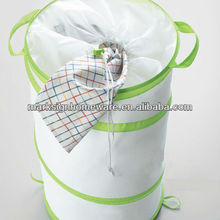Draw String Lid Pop-up Laundry Hamper
