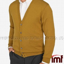 Men's Silk/Cashmere Button Front Cardigan Sweater