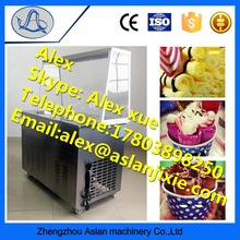 Manufacturers direct supply fried ice cream machine / Dessert shop small equipment two pans fry ice cream machine easy to move