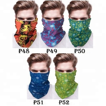 KaPin colourful printed tube scarf magic sport neck scarf fashion seamless fishing bandana