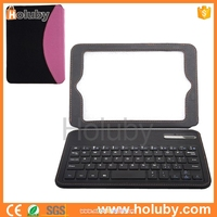 Alibaba china Dual-color Bluetooth Keyboard Flip Stand Leather Case for iPad Mini