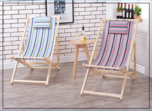 folding beach chair wooden