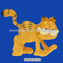 Delicate handmade Garfield clear resin sculpture