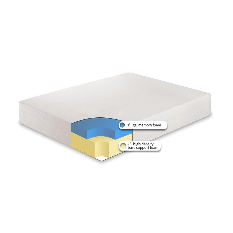 Gel memory foam topper twin bubble memory foam car mattress - Jozy Mattress | Jozy.net