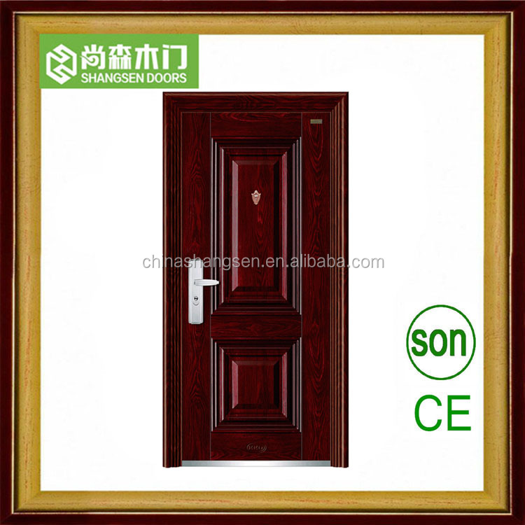 cheaper double commercial pop sale style steel door made in china