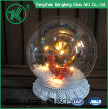 Clear Glass Ball Ornaments Christmas Ball with Warm White LED Light
