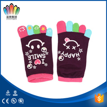 FT Fashion colourful pattern cute children/Kid acrylic knitted Toe Socks