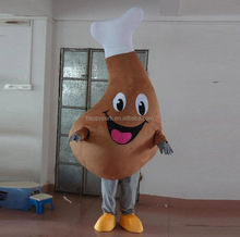 Factory direct sale cheap shipping cost sponge body chicken leg mascot costume for adult