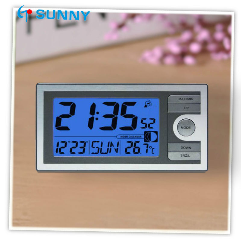 Household Four Sided Digital Alarm Clock