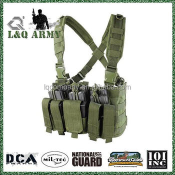 Tactical Lightweight MOLLE Tactical Chest Rig w/ Mag Pouches