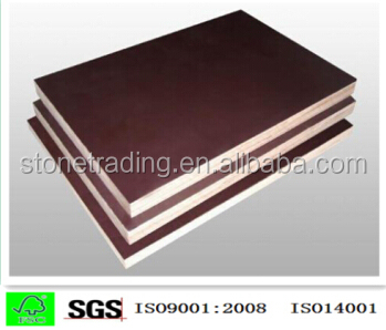 Brown Film Faced Plywood Building Template, Concrete Formwork Board, Construction Panel 12mm