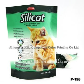 stand up plastic bag for cat litter plastic bag