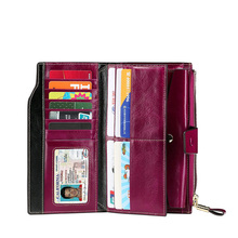 wholesale trendy wallets factory carbon fiber low price card holder wallet women travel cell phone wallet