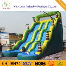 2017 Top Sale 26 feet Tropical Inflatable Jungle Water Slide with Pools