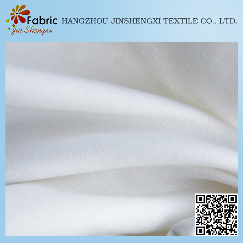 Cheap plain polyester satin material quilting white jacquard fabric