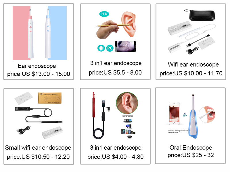 HD Visual Earpick Ear Cleaning Endoscope 3 in 1 Earwax Clean Tool 5.5MM Mini Boscopere Health Care Inspection Camera