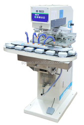Digital Pneumatic 4 Color Pad Printer For Cosmetic Cans